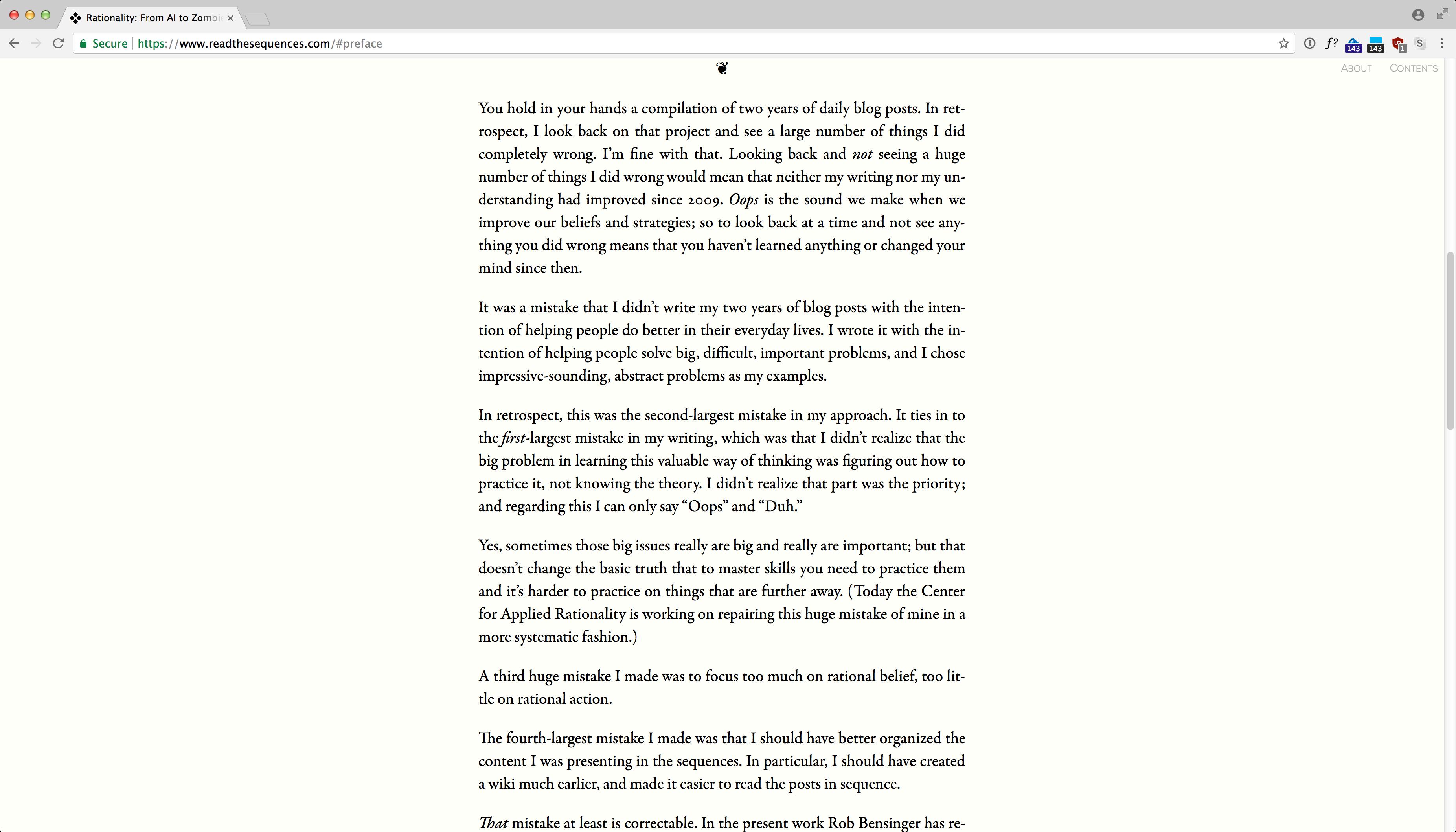 ReadTheSequences.com screenshot 2